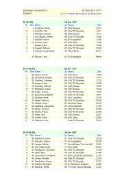 Schweizer Flachsprint-OL So 29.05.2011 20:17 Ergebnis D -14 (10 ...
