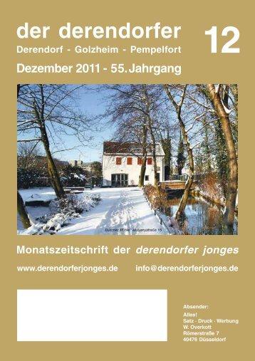 der derendorfer Dezember 2011 - 55. Jahrgang Derendorf - Golzheim