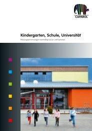 Kindergarten, Schule, Universität  - Caparol