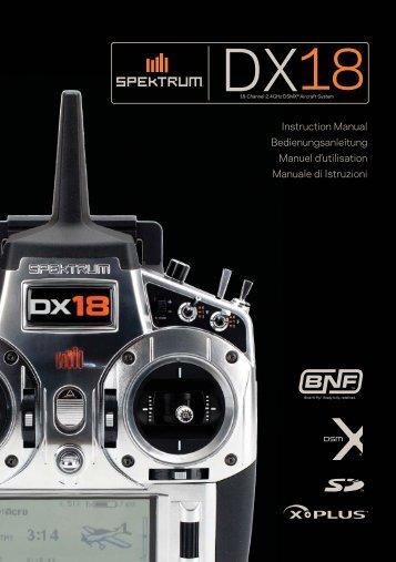 Spektrum DX18 Manual - Horizon Hobby
