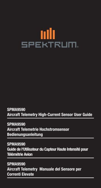 SPMA9590 Aircraft Telemetry High-Current Sensor User ... - Spektrum