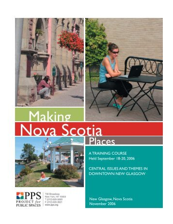 Central Issues and Themes in Downtown New Glasgow - Pictou ...