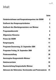 Seminarraum 3 - Deutsche Gesellschaft für Wundheilung und ...