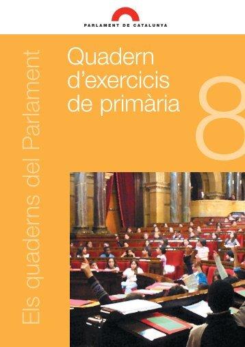 Quadern d'exercicis de primària - Parlament de Catalunya
