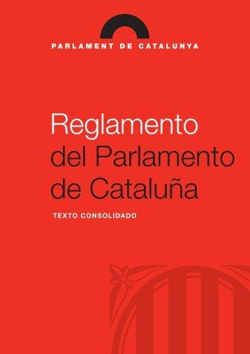 Reglamento del Parlamento de Cataluña. Texto consolidado