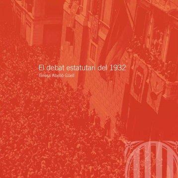 El debat estatutari del 1932 - Parlament de Catalunya