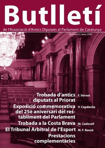 Butlletí de l'Associació d'Antics Diputats al Parlament de Catalunya ...