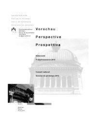 Vorschau Frühjahrssession 2013 - Schweizer Parlament