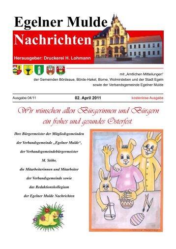 Egelner Nachrichten April 2011 PDF-Dokument - Druckerei Lohmann