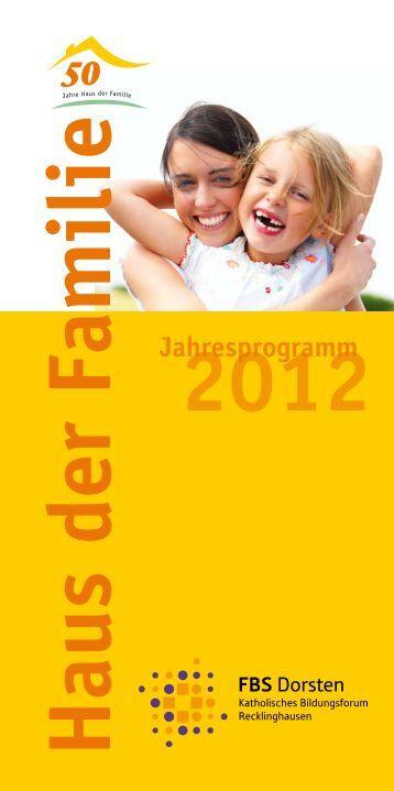 Jahresprogramm - Katholische Familienbildungsstätte Dorsten