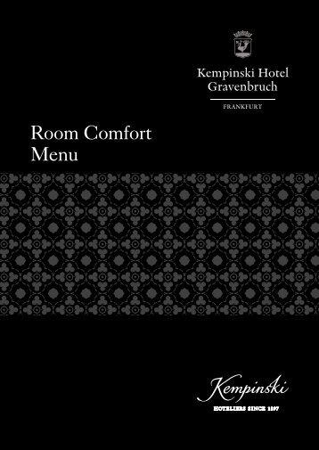 Room Comfort Menu