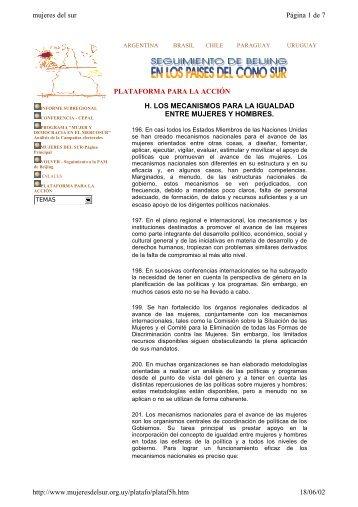 Los Mecanismos para la Igualdad entre Mujeres ... - Poder Legislativo