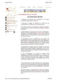 Declaración de Beijing. Cuarta Conferencia Mundial sobre la Mujer ...
