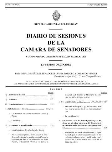diario de sesiones de la camara de senadores - Poder Legislativo