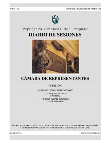 44ª Sesión ordinaria del 3 de setiembre de 2003 ... - Poder Legislativo