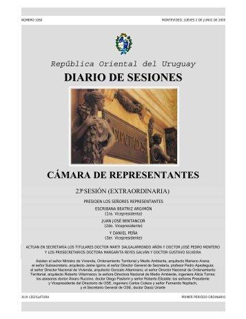 23ª Sesión extraordinaria del 2 de junio de 2005 ... - Poder Legislativo