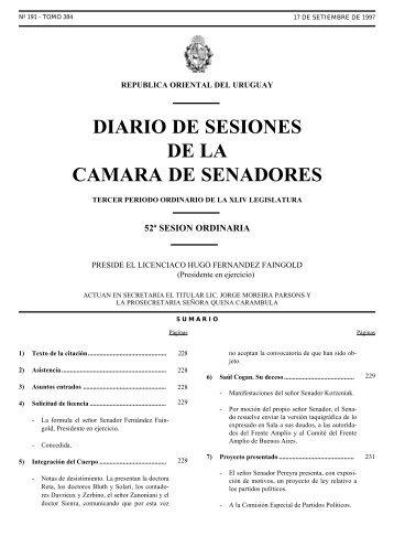 Diario de sesiones de la camara de senadores poder for La camara de senadores