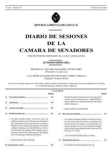 SESION 16ª - Poder Legislativo