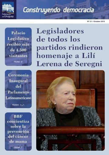 Número 21. Oct/2012 - Poder Legislativo