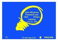 John Whybrow President and CEO Philips Lighting