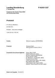 Landtag Brandenburg P-AUGV 5/37 Protokoll - Land Brandenburg