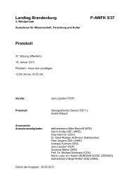 37. Sitzung des Ausschusses für Wissenschaft, Forschung und ...