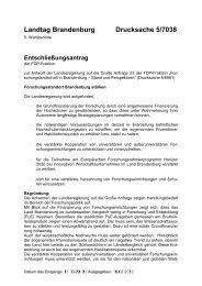 Landtag Brandenburg Drucksache 5/7038