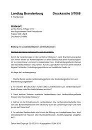Landtag Brandenburg Drucksache 5/7068
