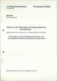 Landtag Brandenburg Drucksache 5/2692 Bericht - Brandenburg.de