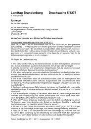 Landtag Brandenburg Drucksache 5/4277