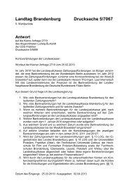 Landtag Brandenburg Drucksache 5/7067