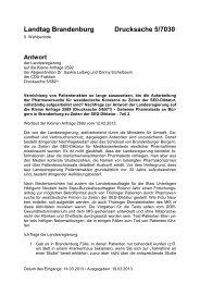 Landtag Brandenburg Drucksache 5/7030