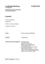 Landtag Brandenburg P-AUGV 5/35 Protokoll - Land Brandenburg