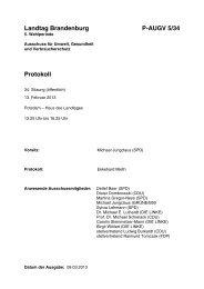 Landtag Brandenburg P-AUGV 5/34 Protokoll - Brandenburg.de