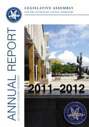 2011-2012 Annual Report - ACT Legislative Assembly - ACT ...
