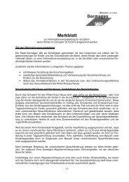 Merkblatt - Stadt Dormagen