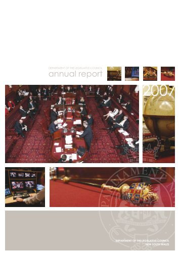 annual report - Parliament of New South Wales - NSW Government