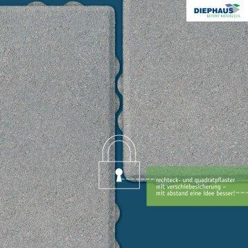 rechteck- und quadratpflaster mit verschiebesicherung ... - Diephaus