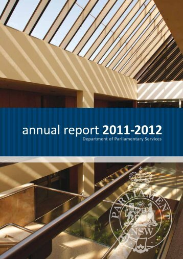 annual report 2011-2012 - Parliament of New South Wales - NSW ...