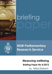 Measuring wellbeing - Parliament of New South Wales - NSW ...