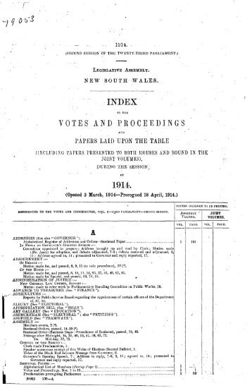 1914 - 1924 - Parliament of New South Wales