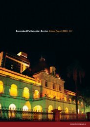 View Annual Report 2003-04 - Queensland Parliament ...