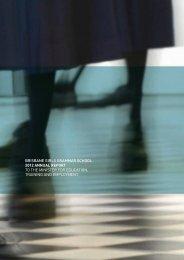 2012 Annual Report to Government - Brisbane Girls Grammar School