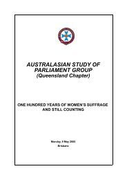 100 years of women's suffrage and still counting - Queensland ...