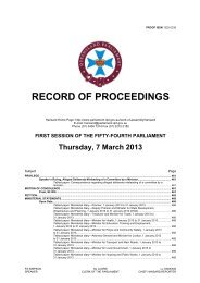 RECORD OF PROCEEDINGS - Queensland Parliament ...