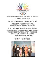 REPORT ON THE OFFICIAL VISIT TO KUALA LUMPUR, MALAYSIA ...