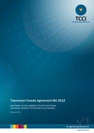 TCCI Submission - Parliament of Tasmania
