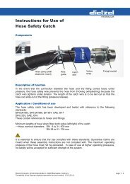 Instructions for Use of Hose Safety Catch - Dietzel Hydraulik