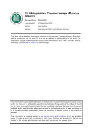 EU bibliographies: Proposed energy efficiency directive - Parliament