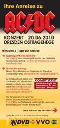 KONZERT 20.06.2010 DRESDEN ... - Dresdner Verkehrsbetriebe AG